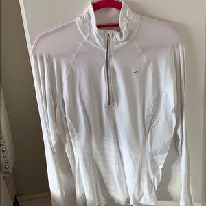 Nike White Dri-fit pullover